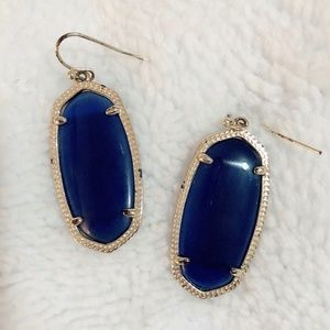 Kendra Scott Elle Earrings - Navy Blue